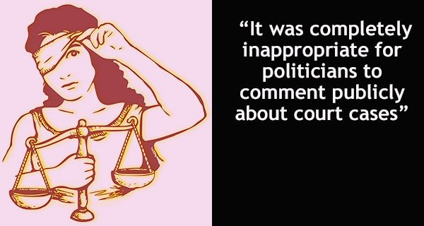 Crossing the hard line between the judiciary and politics