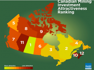 Saskatchewan top spot for mining investment in Canada