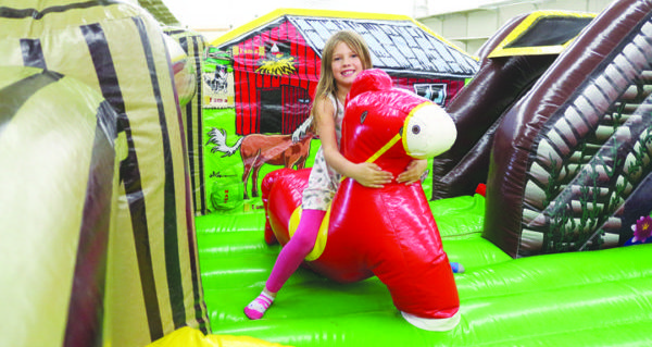 Horses, karaoke and inflatable fun