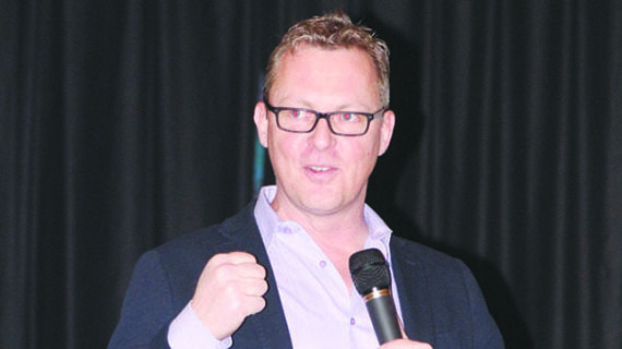 Best-selling author shares his message in Kindersley