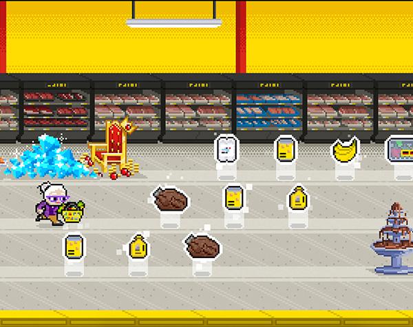 No Frills Game shopping aisle