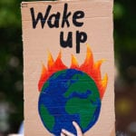 climate change earth protest