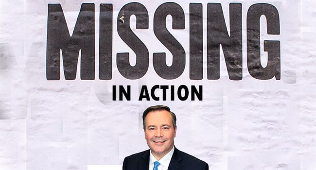 Political leadership in Alberta missing in action