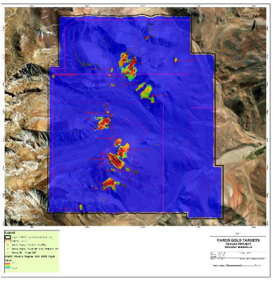 Windfall Geotek Cards AI Provides High Probability Gold Targets to Orvana Minerals Corp on its Taguas Project in Argentina