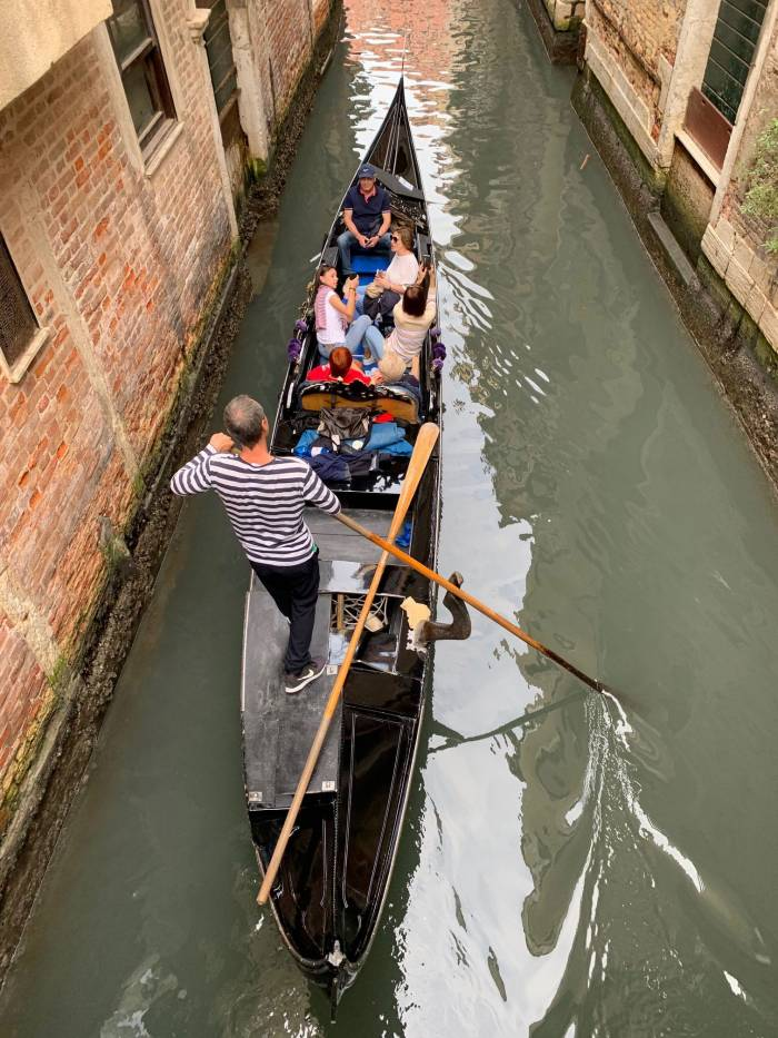 Gondola rides for global tourists before the floods. Photo by Mike Robinson